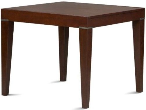 02860TOB 01 KD U Napoli Slice Table Brown Sugar Finish Casual Dining