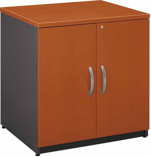 Bush Wc48596a Series C Storage Cabinet 30 Levelers Adjust For Stability On Uneven Floors One Adjustable Shelf Provides Storage Versatility Accepts Storage Hutch 30 For Additional Storage Capability Pvc Edge Banding