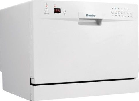 Countertop Dishwasher Connect To Tap : Danby DDW611WLED Full Console Countertop Dishwasher with 6-Place ...