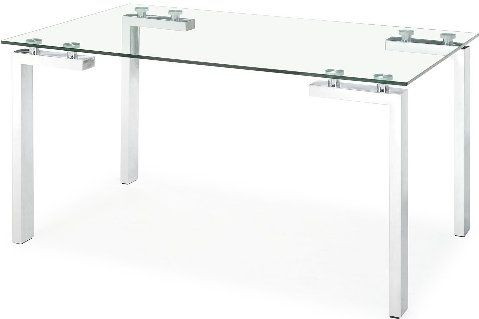 Zuo Modern 102141 Dining Table   Roca Dining Table, Contemporary / Modern  Dining Table, Tempered Glass Top, Chromed Steel Legs, Chrome / Brushed  Chrome ...