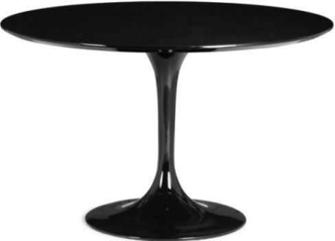 Superior Zuo Modern 102172 Glossy Painted Round Top Table From The Wilco Collection,  Dining Table Product Type, Black Product Finish, Contemporary / Modern  Style, ...