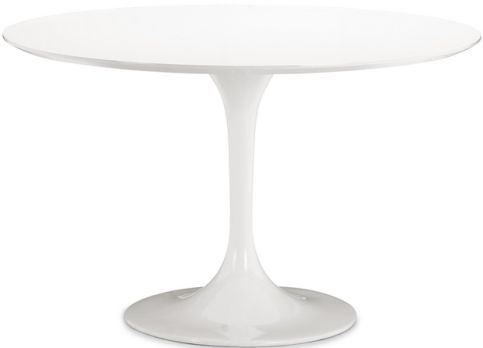Zuo Modern 102173 Glossy Painted Round Top Table From The Wilco Collection,  Dining Table Product Type, White Product Finish, Contemporary / Modern  Style, ...
