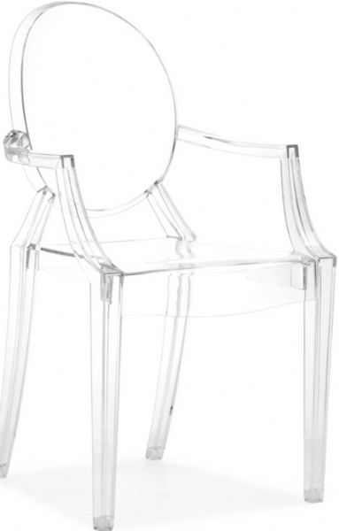 4 Lucite  Chrome Mid Century Modern Dining Chairs | Furnish Me