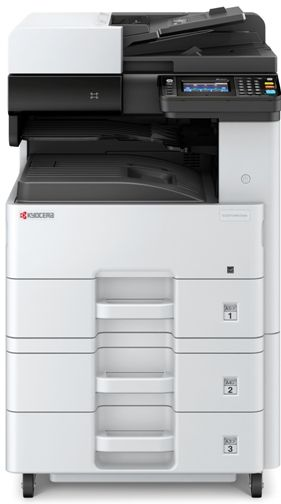 Kyocera 1102TB2US0 ECOSYS M4125idn A3 Black & White Multifunctional Laser Printer, 4.3