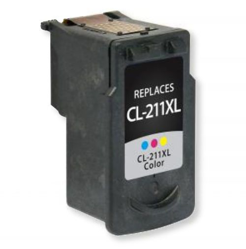 Clover Imaging Group 117199 Remanufactured Tri-Color Ink Cartridge for Canon CLI-211XL; Yields 349 Prints at 5 Percent Coverage; UPC 801509194258 (CIG 117199 117-199 117 199 2975B001 2975 B001 2975-B-001 CLI-211XL CLI 211 XL CLI-211-XL)