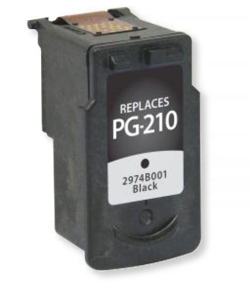 Clover Imaging Group 117202 Remanufactured Black Ink Cartridge for Canon PG-210; Yields 220 Prints at 5 Percent Coverage; UPC 801509194289 (CIG 117202 117-202 117 202 2974B001 2974 B001 2974-B-001 PG-210 PG 210 PG-210)