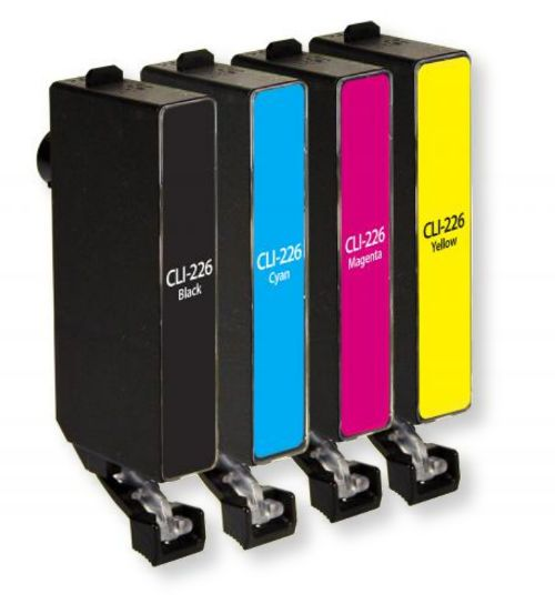 Clover Imaging Group 118166 New Black, Cyan, Magenta, and Yellow Ink Cartridge for Canon CLI-226; Multi-Pack; UPC 801509368819 (CIG 118166 118-166 118 166 4546B001 4546 B001 4546-B-001 4547B001 4547 B001 4547-B-001 4548B001 4548 B001 4548-B-001 4549B001 4549 B001 454-B-001 CLI-226 CLI226 CLI 226)