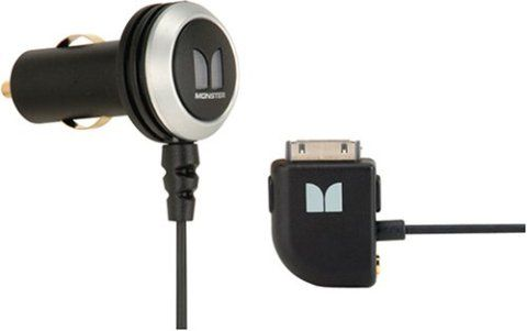 monster 123961 model icarcharger 200 for ipod and iphone power adapter charges ipod via 30 pin. Black Bedroom Furniture Sets. Home Design Ideas