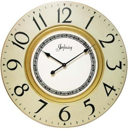 Infinity Instruments 14042 Regal MDF Wall Clock, 31