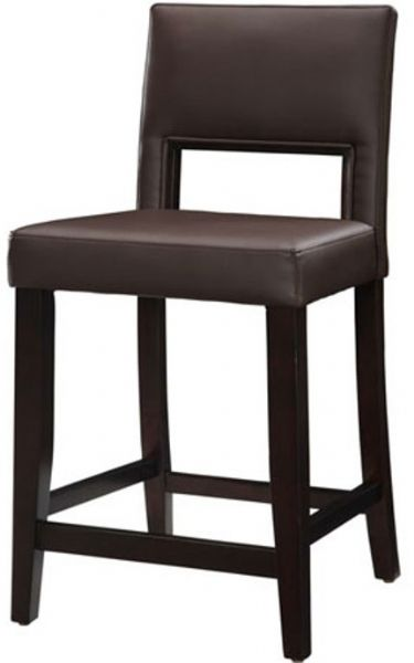Linon 14053VESP-01-KD-U Vega Counter Stool in Espresso 24  Seat height Rich dark espresso finish Crafted from solid wood and PVC Padded PVC vinyl seat ...  sc 1 st  SaleStores.com : stools 24 seat height - islam-shia.org