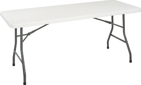 Cosco 14168WSP1 Blow Molded Folding Table, 6 Ft. Molded Table With Folding  Legs For Easy Storage, Plastic Top Makes This Table Flexible For Indoor Or  ...