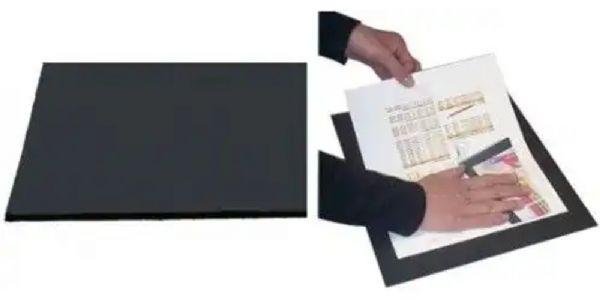 alvin board 15 x 20 in black on black matte black paper printed on