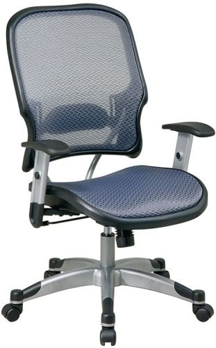 Office Star 15 66C615R Space Light Air Grid Seat U0026 Back Manageru0027s Chair,  Breathable Air Grid Seat And Back With Built In Adjustable Lumbar Support,  ...