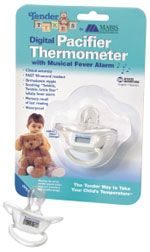 Mabis 15-690-000 Tender Tykes Digital Pacifier Thermometer, Fahrenheit, Memory recall of last reading (15690000, 15 690 000, 15690 000, 15 690000, 15-690000, 15690-000)