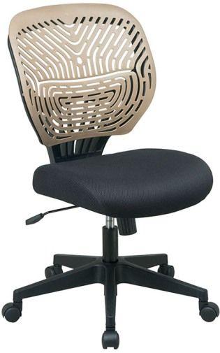 Office Star 169 38BN8 SPINN Series SpaceFlex Back Chair Latte Self