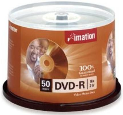 Imation 17341 Storage media - DVD-R 4.7GB Storage Capacity 120 Minute Maximum Recording Time 16x Maximum Write Speed Non-Printable Surface Type ...  sc 1 st  SaleStores.com & Imation 17341 Storage media - DVD-R 4.7GB Storage Capacity 120 ...