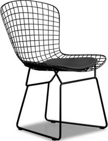 Zuo Modern 188001 Wire Chair In Black, Frame Only, Contemporary / Modern  Style,