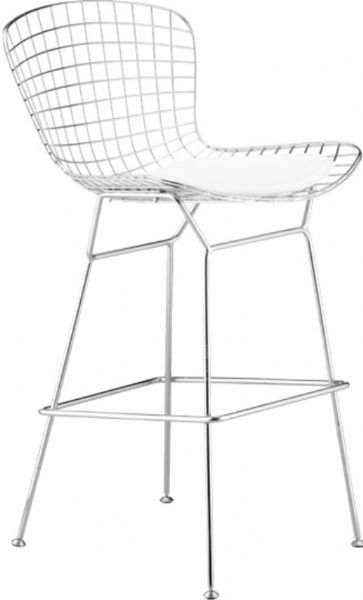 Phenomenal Zuo Modern 188017 Wire Bar Chair In White Contemporary Evergreenethics Interior Chair Design Evergreenethicsorg