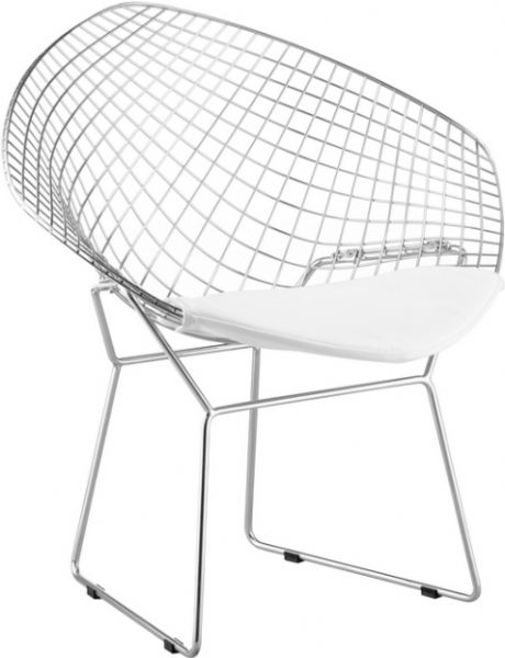 zuo modern 188021 net chair in white, contemporary / modern style