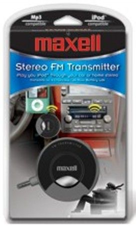 Maxell 191213 Model P-13 Digital FM Transmitter, Allows you to play iPod, MP3, CD & other portable players through your car or home stereo, Transmits on 4 FM channels, Up to 24 hour battery life, High-quality stereo sound, Ultra-light and compact, Requires 3 AAA batteries (not included), UPC 025215340338 (191-213 191 213 P13 P 13)
