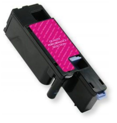 Clover Imaging Group 200750 Remanufactured Magenta Toner Cartridge for Dell 332-0401, 4J0X7; Yields 1000 Prints at 5 Percent Coverage; UPC 801509298017 (CIG 200-750 200 750 3320401 332 0401 4J-0X7 4J 0X7)