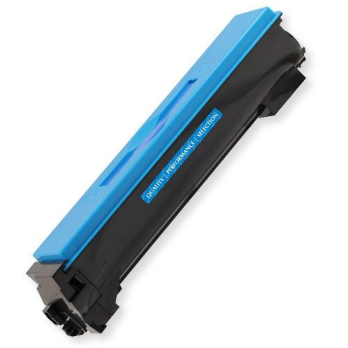 Clover Imaging Group 201015 New Cyan Toner Cartridge To Replace Kyocera TK-542C; Yields 6000 Prints at 5 Percent Coverage; UPC 801509364859 (CIG 201015 201 015 201-015 TK542C TK 542C)