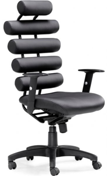 Zuo Modern 205050 Unico Office Chair in Black, Four cylindrical