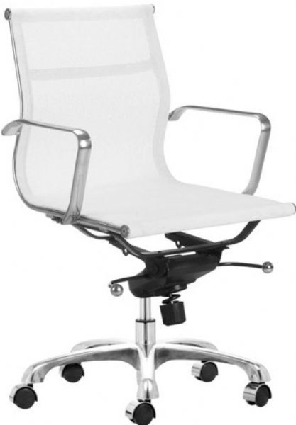zuo modern 205108 espia office chair in white mesh contemporary