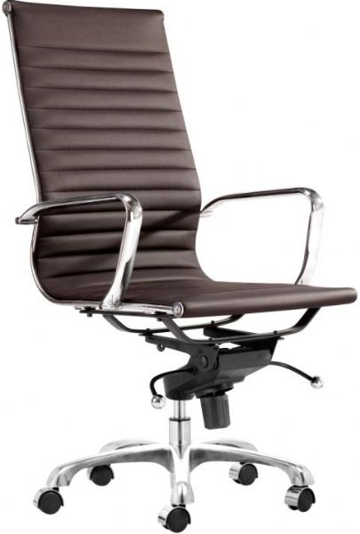 Zuo Modern 205146 Holt High Back Office Chair White PU Geometrical In Desig