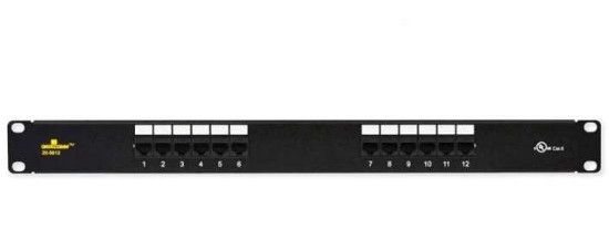 Datacomm 20-5612 Cat 6 Universal Patch Panels; Black; Designed and color coded for T586A and T586B wiring configurations; Meets all UL standards and requirements for Cat 6 patch panels; Intertek ETL Semko verified and tested to Cat 6 industry standards and certifications; UPC 660559007532 (205612 20-5612 DATACOMM 20-5612-DATACOMM DATACOMM-20-5612 PANEL20-5612 24PANEL20-5612)