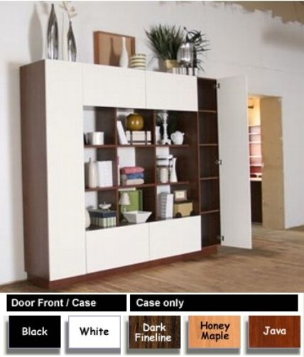 Icon 21656-2243 Harrison Bookcase Room Divider Storage Wall