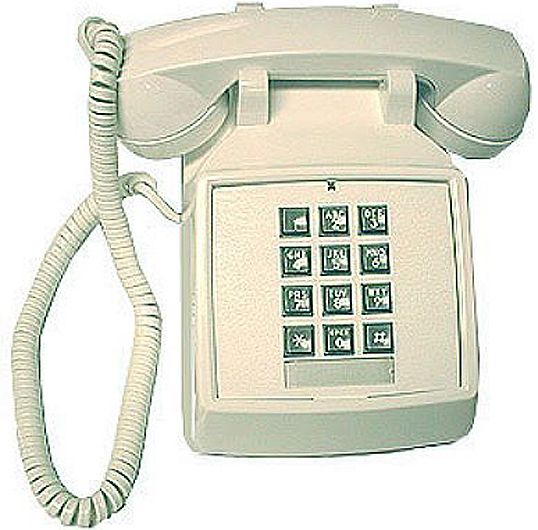 Vba 20m traditional desk phone w vol white traditional desk phone