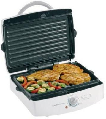 Hamilton Beach 25327 Indoor Grill with Extra Large Removable Grids ...