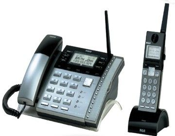RCA 25450RE3 Corded & Cordless PHone System, 4-Line Multi