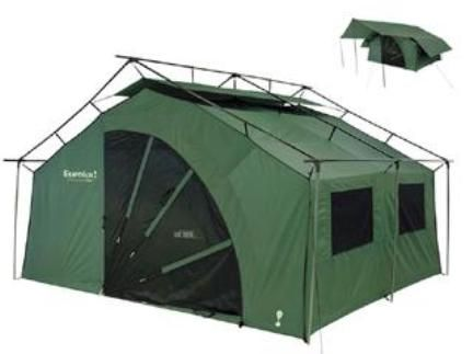 Eureka 2601892 Pine Lodge Outfitter Tent with Fly Awning 15 pole cabin style tent with single wall construction 12u0027 x 10u0027 Floor Size 11  x 15  x 33  Pack ...  sc 1 st  SaleStores.com & Eureka 2601892 Pine Lodge Outfitter Tent with Fly Awning 15 pole ...