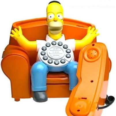 KNG America 27220 Homer Simpson Animated Phone