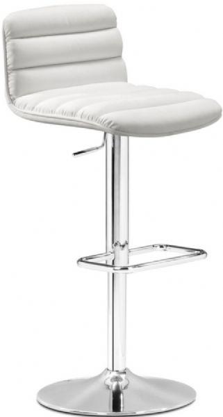 Pleasant Zuo Modern 301361 Nitro Barstool In White Contemporary Bralicious Painted Fabric Chair Ideas Braliciousco