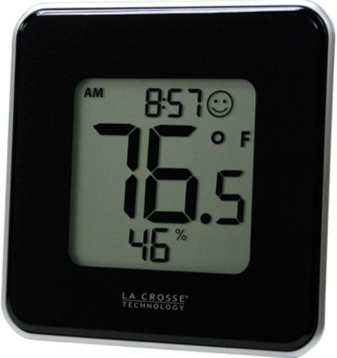 La Crosse Technology 302-604B Digital Thermometer & Hygrometer Station, -4°F to 122°F ; -20°C to 50°C Temperature range, 20% to 99% RH Humidity range, -4°F ; -20°C