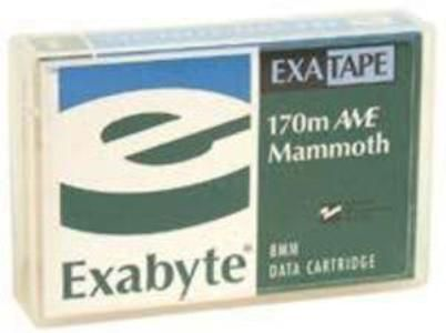 Exabyte 312629 Refurbished EX-AME 170 1pk Mammoth 8mm 170m 20/40GB Tape Cartridge, Up to 40 GB capacity, Dual layer, AME recording surface, Recording Surface Protective Coating (RSPC), Over 20000 passes on full-length data cartridge, Superior head-to-tape contact, Precision cartridge design, UPC 709550003300 (312-629 312 629 AME170)