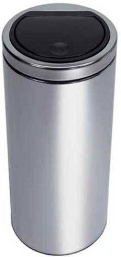 Brabantia Touch Bin Flat Top 30 Liter Wit.Brabantia 348648 Flat Top Touch Bin 30 Litre Robust Round