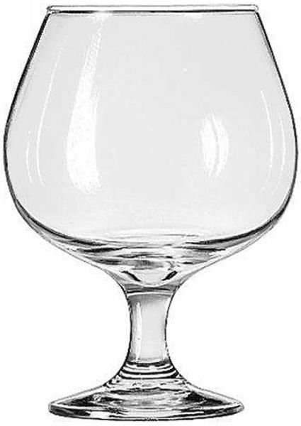 Libbey 3708 Embassy 17-1/2 oz. Brandy Glass, One Dozen, Capacity (US) 17-1/2 oz., Capacity (Imperial) 51.8 cl., Capacity (Metric) 518 ml., Height 5-1/2