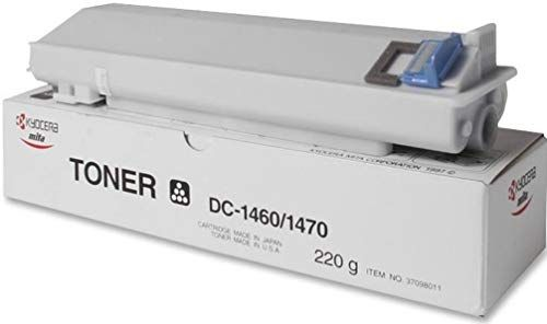 Kyocera 37098011 Black Toner Cartridge For use with Kyocera DC-1460 and DC-1470 Copy Machines, Up to 5000 Pages Yield Based On @ 5% Coverage, UPC 803235467521 (370-98011 3709-8011 37098-011)