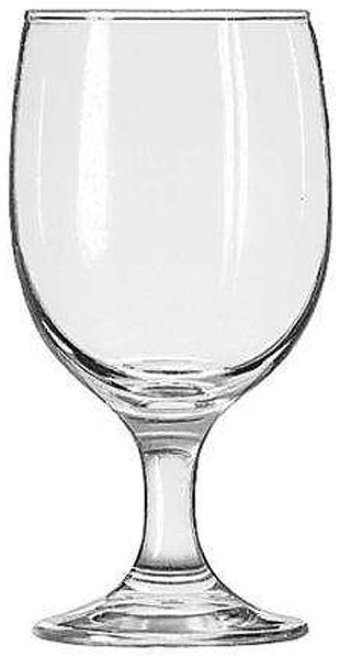 Libbey 3711 Embassy 11-1/2 oz. Goblet Glass, One Dozen, Capacity (US) 11-1/2 oz., Capacity (Imperial) 34.0 cl., Capacity (Metric) 340 ml., Height 6-1/8