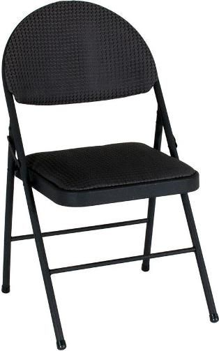 Cosco 37975tms4e Comfort Xl Folding Chair Black Fabric 4
