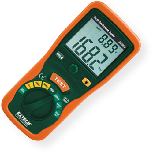 Extech Earth Resistance Tester : Extech earth ground resistance tester kit large