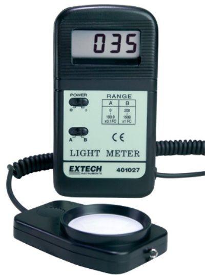 extech 401027 pocket foot candle light meter lcd with over range. Black Bedroom Furniture Sets. Home Design Ideas