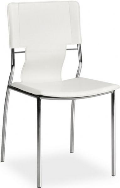 Zuo Modern 404132 Trafico Dining Chair in White Contemporary