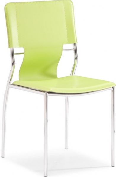 Zuo Modern 404134 Trafico Dining Chair in Green Contemporary / Modern Style Steel / Leatherette Product Material 17  Seat Height 16.5  Seat Depth ...  sc 1 st  SaleStores.com & Zuo Modern 404134 Trafico Dining Chair in Green Contemporary ...