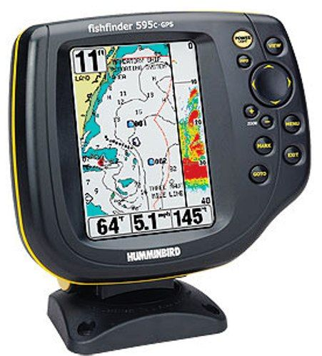 4063201 model 595c combo fishfinder with gps chartplotting and, Fish Finder