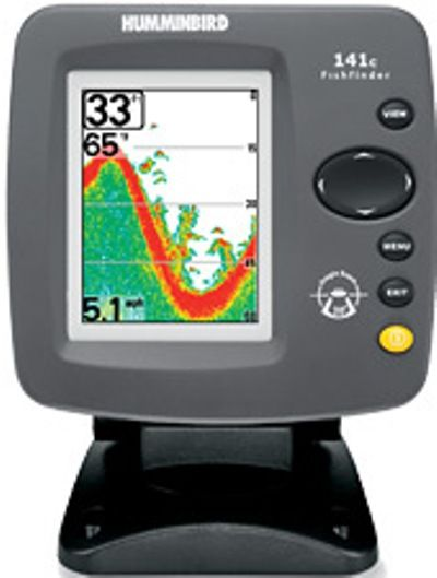 "humminbird 4065501 model 141c color fishfinder, 3.5"" diagonal, Fish Finder"